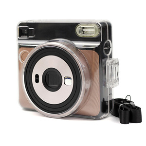 Image 4 - Besegad Transparent Plastic Protective Case Cover with Adjustable Shoulder Strap for Fujifilm Instax Square SQ6 SQ 6 Camera