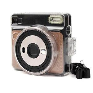 Image 4 - Besegad şeffaf plastik koruyucu kılıf kapak için ayarlanabilir omuz askısı ile Fujifilm Instax kare SQ6 SQ 6 kamera