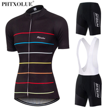 Phtxolue Team Women Cycling Clothing 2017 Black Breathable Bike Bicycle Suit Wear Clothes Short Sleeve Jerseys Ropa Ciclismo