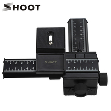 """Снимать 4 Way Макрос Фокусировка железнодорожных Slider Gimbal для Nikon Canon Samsung Sony DSLR Камера карданный крепление DC с Стандартный 1/4 """"винт"""