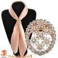 2016 moda marca de jóias de alta qualidade ouro pinos cachecol clipes de borboleta broche de cristal para as mulheres