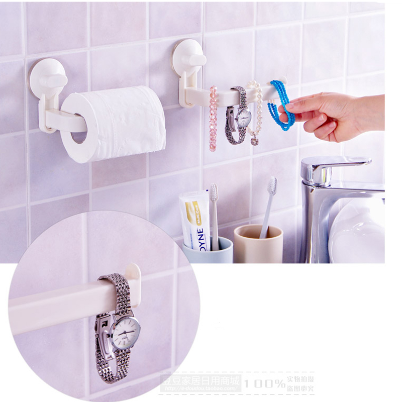 Sanitary toilet vacuum suction bathroom roll paper holder for Bathroom sanitary accessories