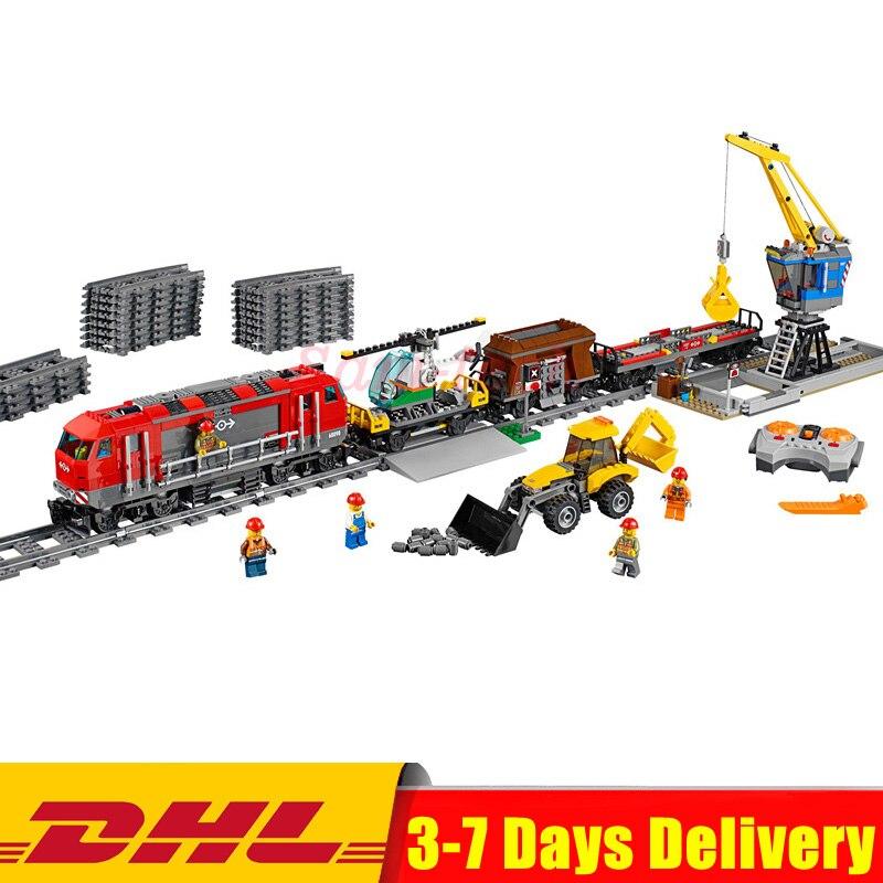 2018 Clone 60098 Lepin 02009 City Engineering Remote Control RC Train Model Building Toy Blocks Bricks Educational Toys Children