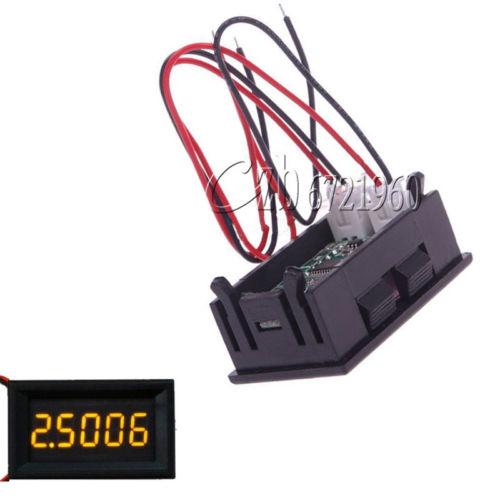 Jaune 5 Chiffres DC 0-4.3000-33.000V Précision Numérique voltmètre Tension Panneau