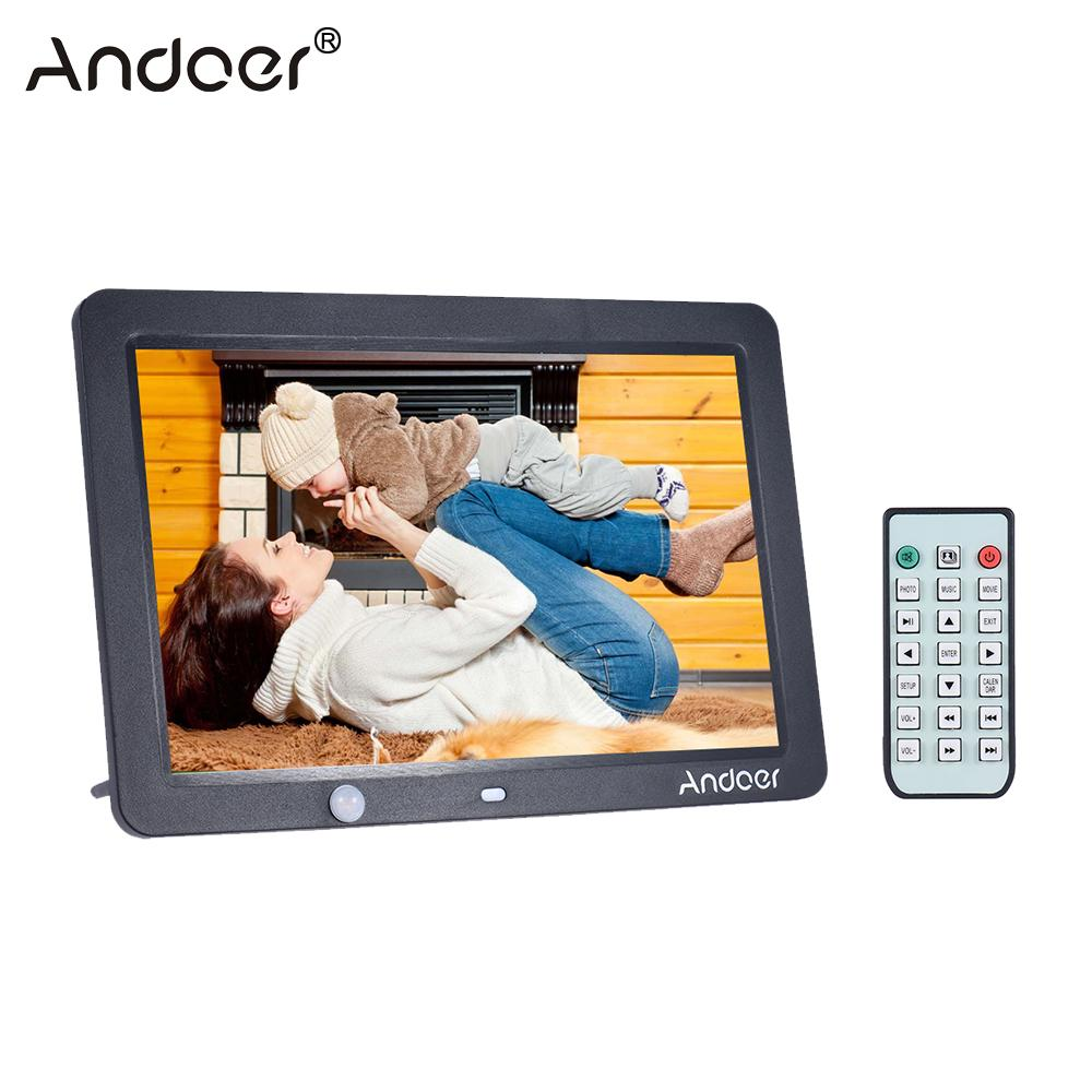 andoer 12 inch led digital photo frame 1280 800 human motion detection with remote control