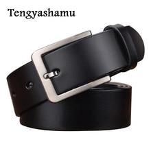 2017 full grain cowhide genuine leather belts for men designer belts brand Strap male pin buckle fancy vintage jeans ceinture
