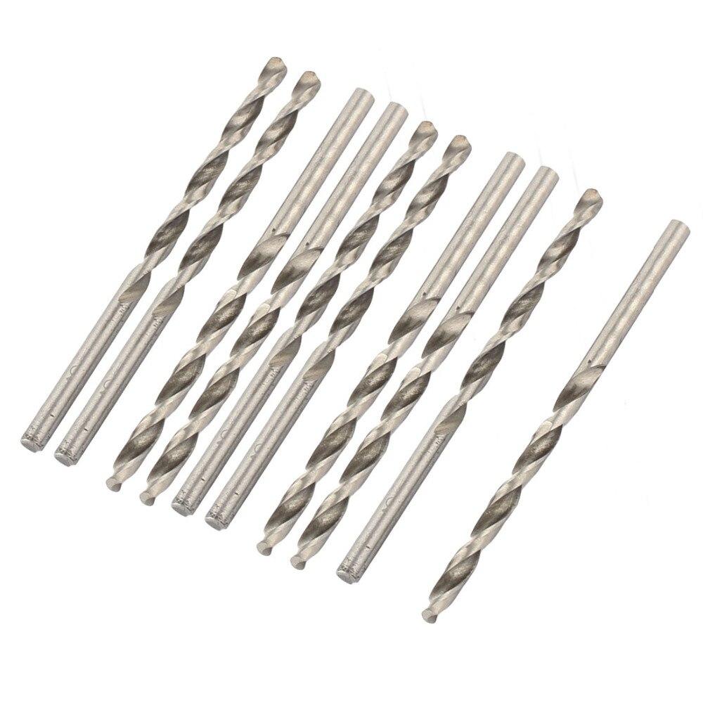 Uxcell 10 pcs de Alta Qualidade 3/1. 45/3. 2mm HSS Aço de Alta Velocidade Torção Haste Reta Broca Bit Buraco Ferramentas De Perfuração De Ferramentas Elétricas