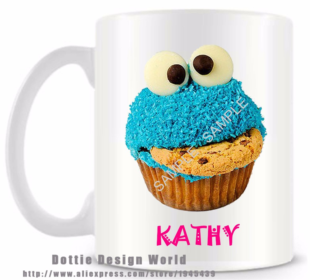 DIY Personalized Cupcake Ceramic White Coffee Tea Cup