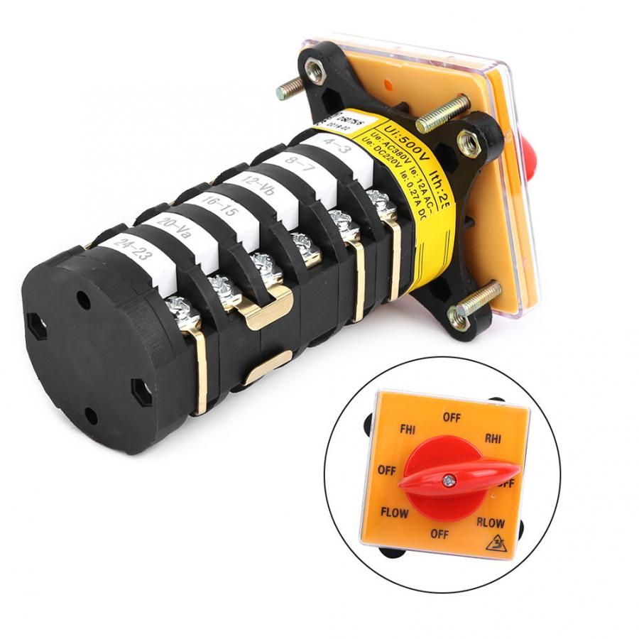 T 16exf64d 6 8 Position Rotary Cam Universal Changeover Switch Selector For Milling Machine Ui500v Lth25a Off Flow Off Fhi Off Switches Aliexpress