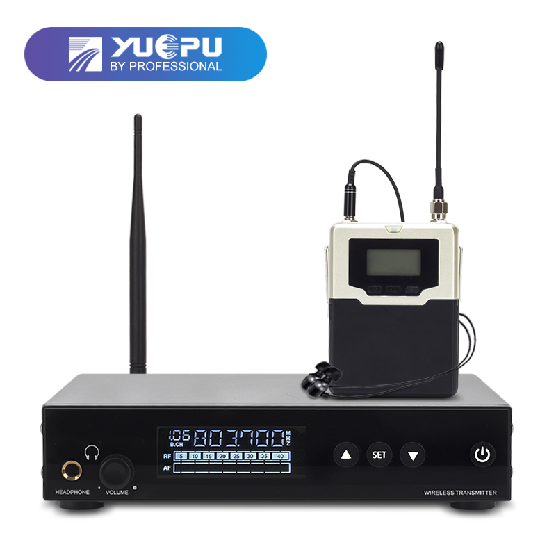 Top Qualité! RU-560 Système de Surveillance Sans Fil dans l'oreille Moniteur Professionnel pour la Scène