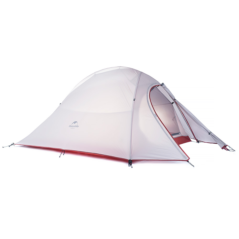 1.24KG Naturehike Tent 2Person 20D Silicone Fabric Double layer Rainproof Camping Tent NH Outdoor Tent 4Season