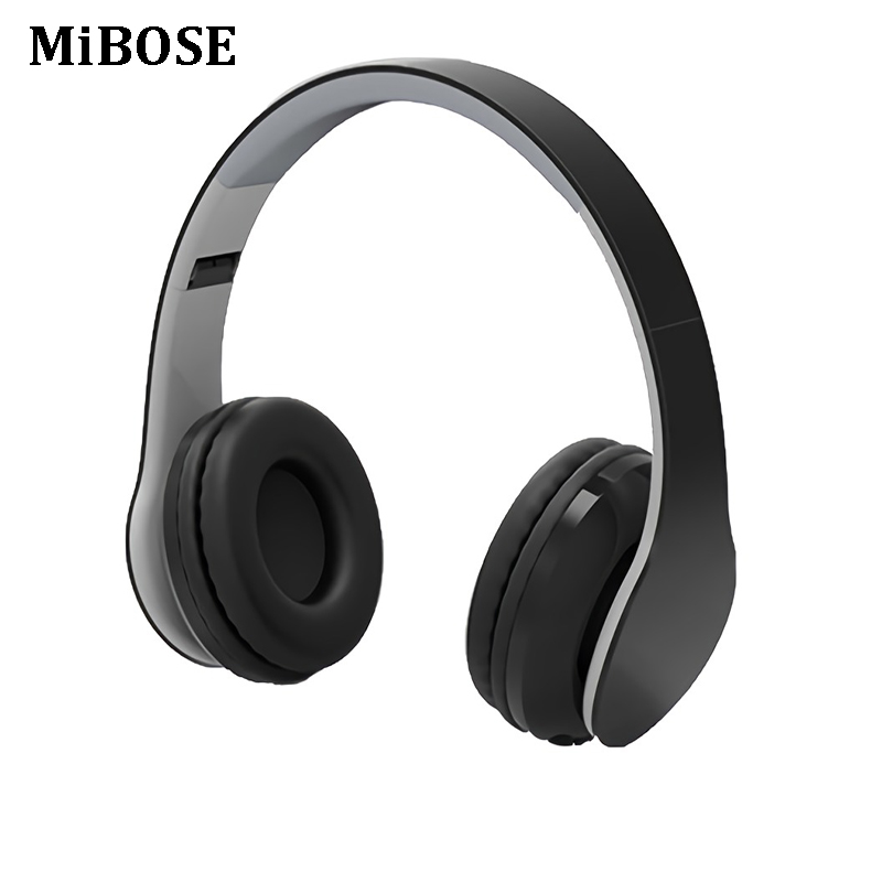 MiBOSE Headphones Wireless 4.1 Bluetooth Headphone Built-in Mic Soft Earmuffs Noise Cancelling Headset Stereo Sound For Phone