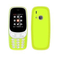 H-Mobile 3310 Z3310 Téléphone Double Carte SIM Bluetooth lampe de Poche MP3 MP4 FM Caméra 1.8 pouce CheapPhone (Livraison ajouter le Clavier Russe)
