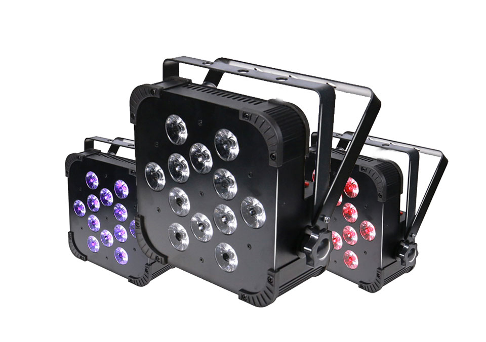 Rasha Quad Factory Price 12*10W RGBA/RGBW 4in1 Non-Wireless LED Flat Par Can,Disco LED Par Light For Stage Event Party