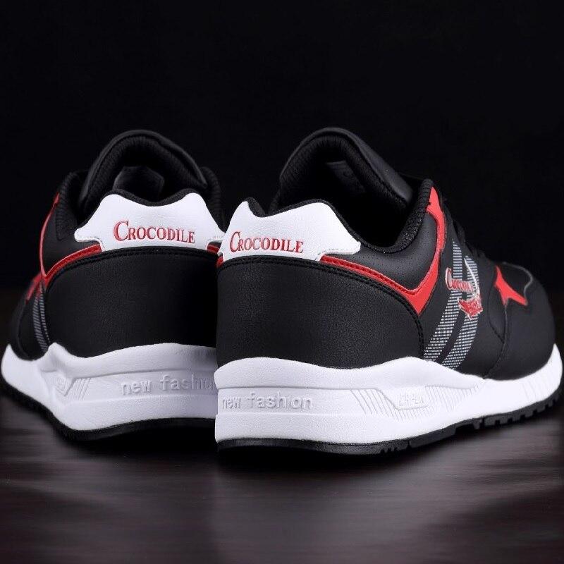 Крокодил оригинальный Для мужчин Запуск Sneaker обувь для Для мужчин беговые кроссовки Zapatillas кожаная обувь мужской спортивной спортивная обув...