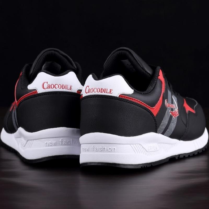 Crocodile Original Men Running Sneaker Shoes for Men Jogging Trainer Zapatillas Leather Footwear Male Athletic Sport Shoes