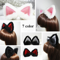Free Shipping 7 Color Anime Kamisama Love Cosplay Accessory Long Fur Fox Cat Ear Headband Multipurpose