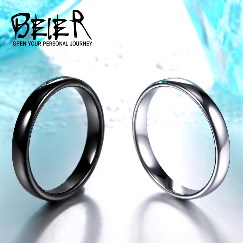 BEIER Classic Simple Plain Design Lovers Rings Couples Wedding & Engagement Fashion High Polished Jewelry  BR-R051 ...