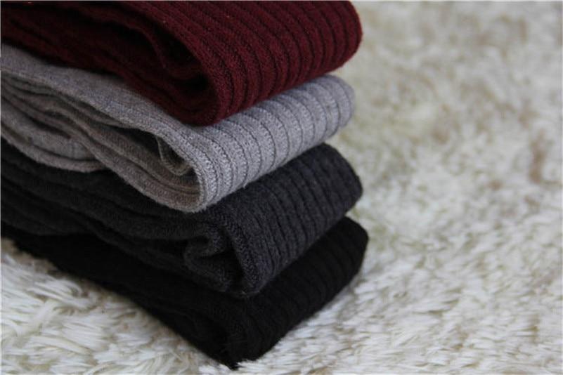ÅTop SaleKnitted Stockings Knee-Socks Thigh Sexy Girls Black Long Women Ladies Fashion Grey RedÕ