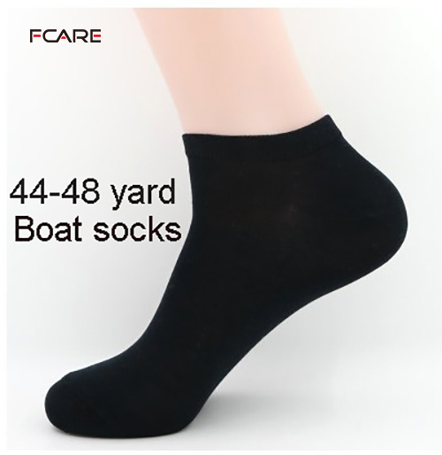 Fcare 10PCS=5 pairs 43-46 or 44 -48 men's cotton elite calcetines   socks   casual plus size boat   socks   short   socks