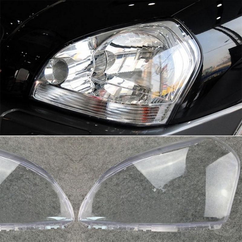 1 Pair Car Headlight Left Right Headlamp Clear Lens Cover For HYUNDAI TUCSON 2005 2006 2007