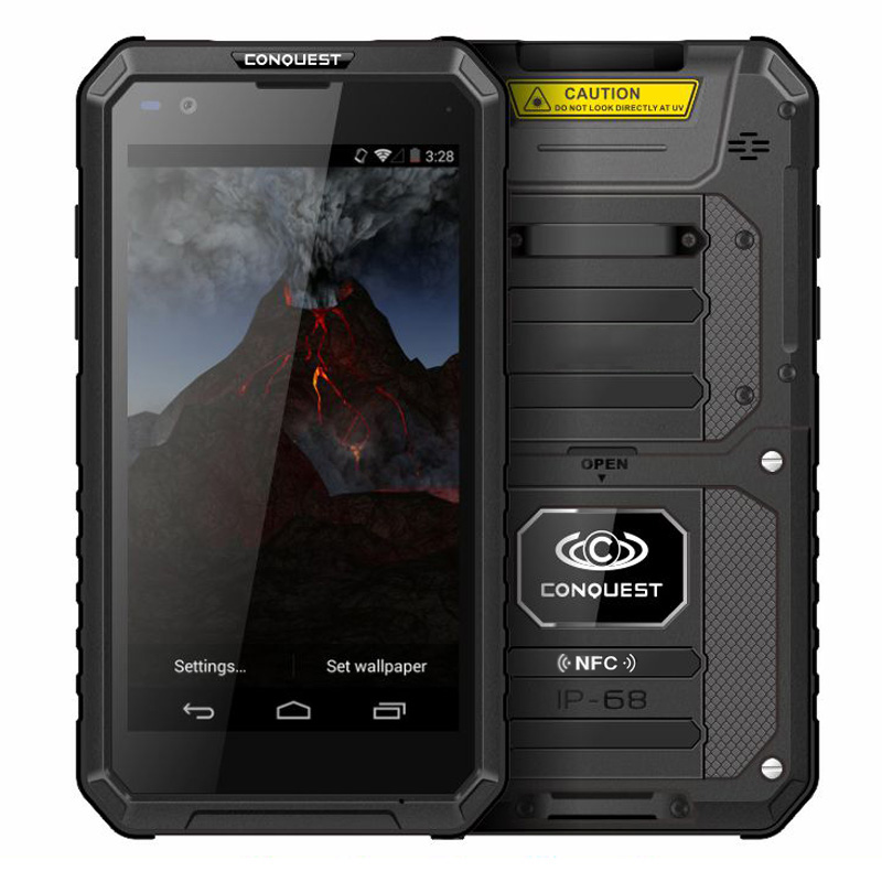 Conquest S10 IP68 Waterproof <font><b>Smartphone</b></font> 5.5