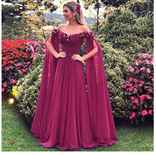 Luxury African New Yellow Lace a-line Evening Dresses 2019 Robe de soiree Muslim Turkish Prom Gowns With Sleeves Abendkleider