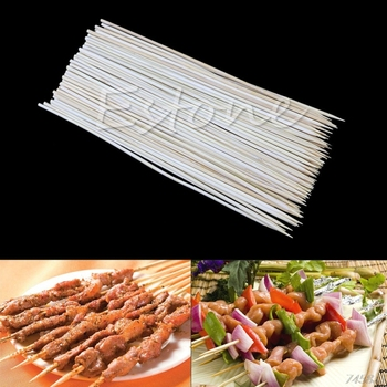 90X 20cm Kabob Skewers Stick Bamboo Grill BBQ Fruit Chocolate Shish Cook Fondue hot sale image