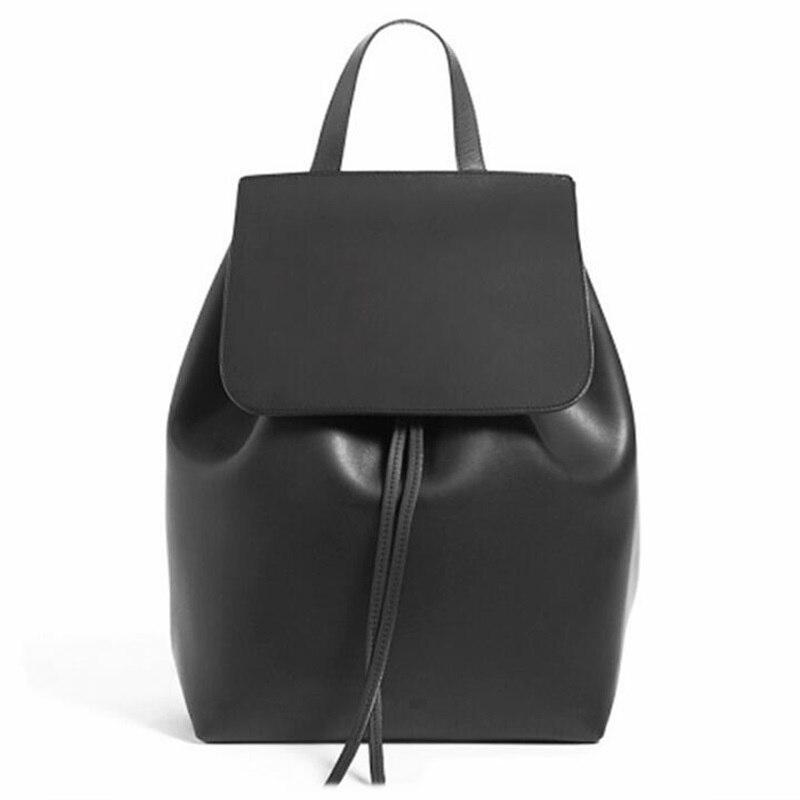 ФОТО Mansur Gavriel Backpacks For Women Designer Vintage Preppy Style Leather Backpack Drawstring Schoolbag For Teenage Travel bags