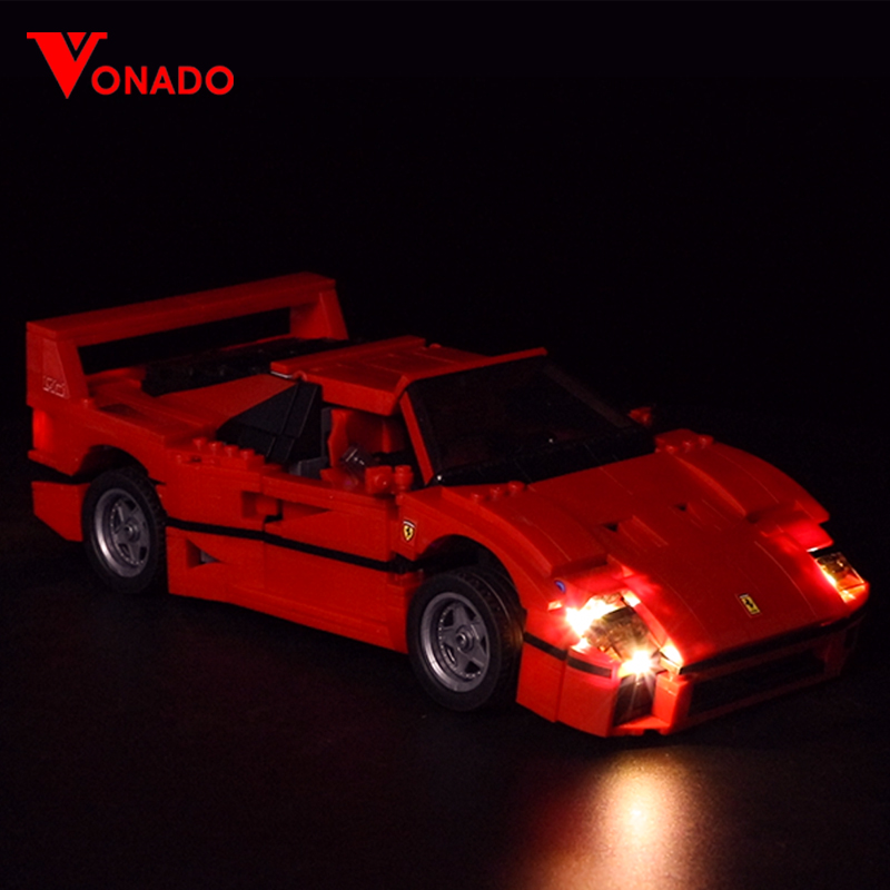 LED light up kit for lego technic 10248 Building Blocks Compatible 21004 Creator series F40 Sports car (only light included)LED light up kit for lego technic 10248 Building Blocks Compatible 21004 Creator series F40 Sports car (only light included)