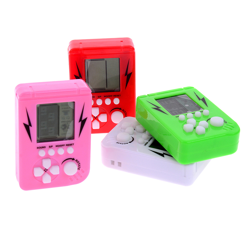 Mini Brick Game Tetris Children Handheld Game Console Portable LCD Players Children Toy Educational Electronic Toys Classic