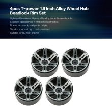 купить 4pcs T-power 1.9 Inch RC Tires Beadlock Alloy Wheels Hub Beadlock Rim Set for 1/10 RC Car RC Component Spare Parts Accessories по цене 1373.62 рублей