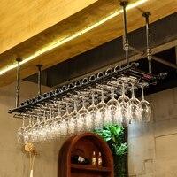 Большие размеры кованого железа winerack вина Стекло стойки настенный подстаканник Стекло держатель шкаф стены хранения Организатор рюмки сто