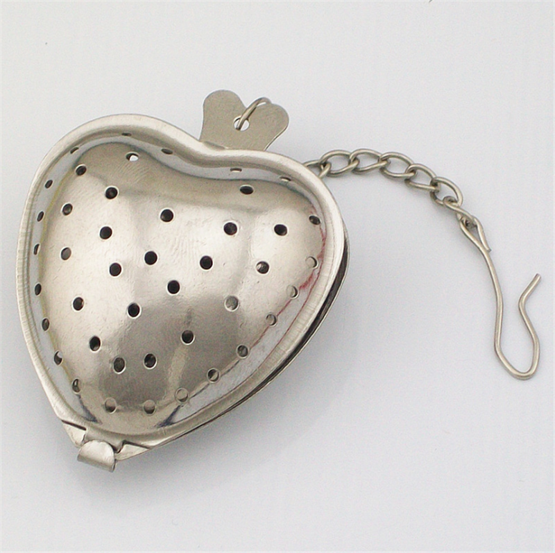 Heart Shaped Tea Infuser Spoon Strainer Stainless Steel Steeper Handle Shower Filter Tea Cup Kitchen Accessories