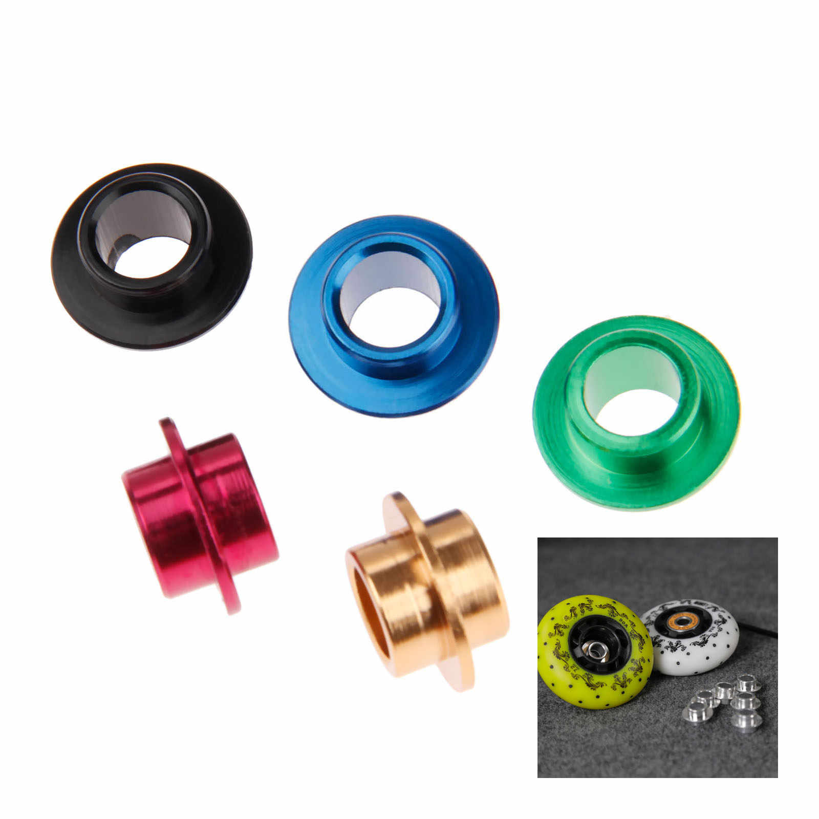 38f4e7dea53 Detail Feedback Questions about 8 Pcs Aluminium Alloy Inline Skate Spacers  Bearing Bushing For Roller Skates Powerslide Skating Spacer Parts 5 Colors  on ...