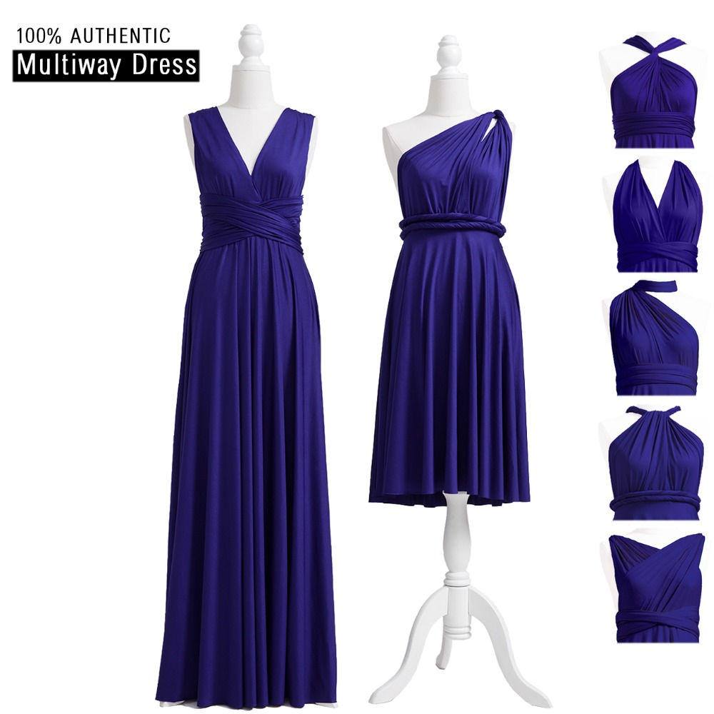 US $59.99 25% OFF|Midnight Blue Bridesmaid Dress Infinity Long Dress  Bridesmaid Dark Blue Multiway Dress PLUS SIZE Convertible Wrap Dress-in ...