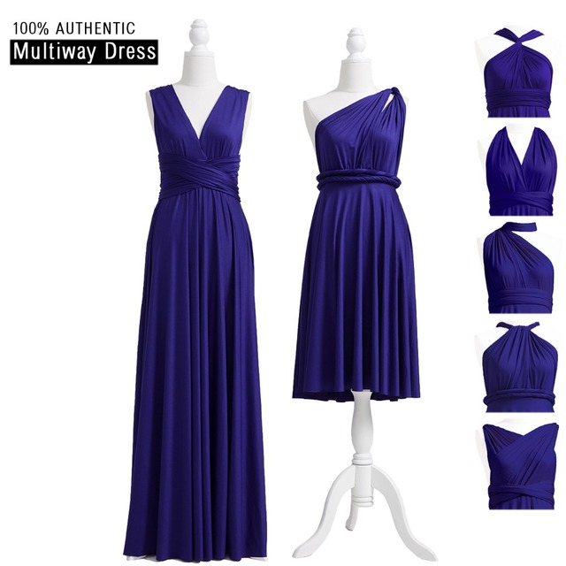 ea0c52209 Midnight Blue Bridesmaid Dress Infinity Long Dress Bridesmaid Dark Blue  Multiway Dress PLUS SIZE Convertible Wrap Dress