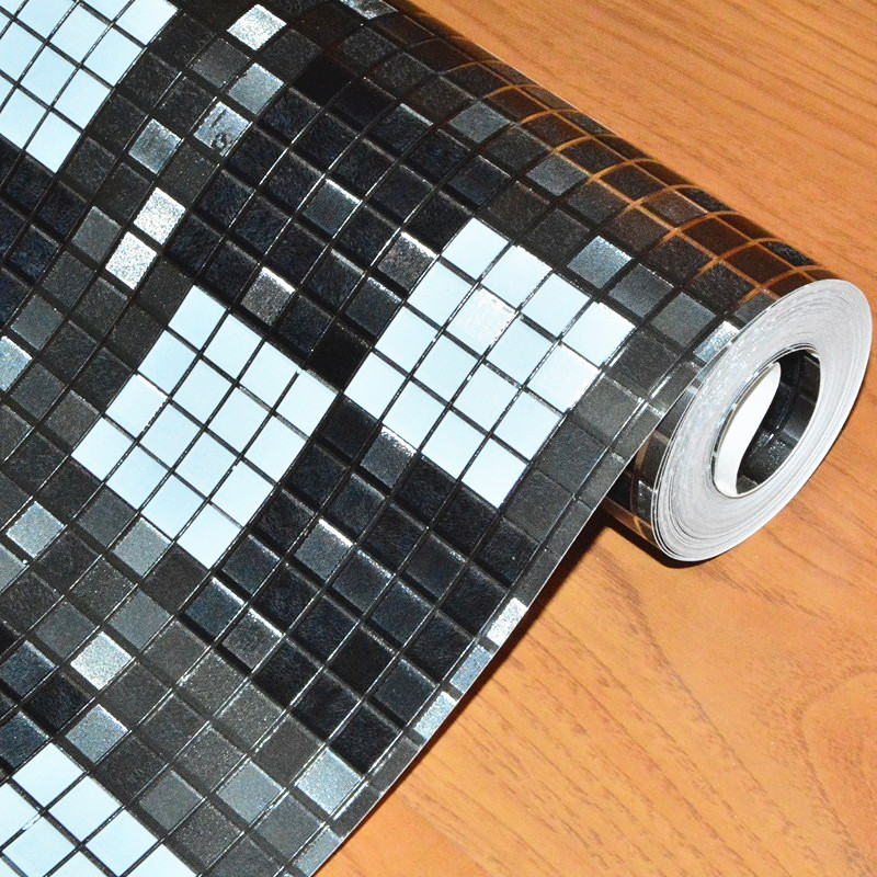 Beibehang papier peint pour murs 3 d noir mosaïque feuille d'or papier peint pour salon décor à la maison rouleau papel de parede 3d plancher