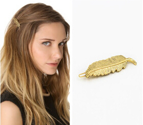 Timlee H088 Fashion Grace Fashion Leaf Hair Clip Bobby Pin Girls hair accessary wholesale