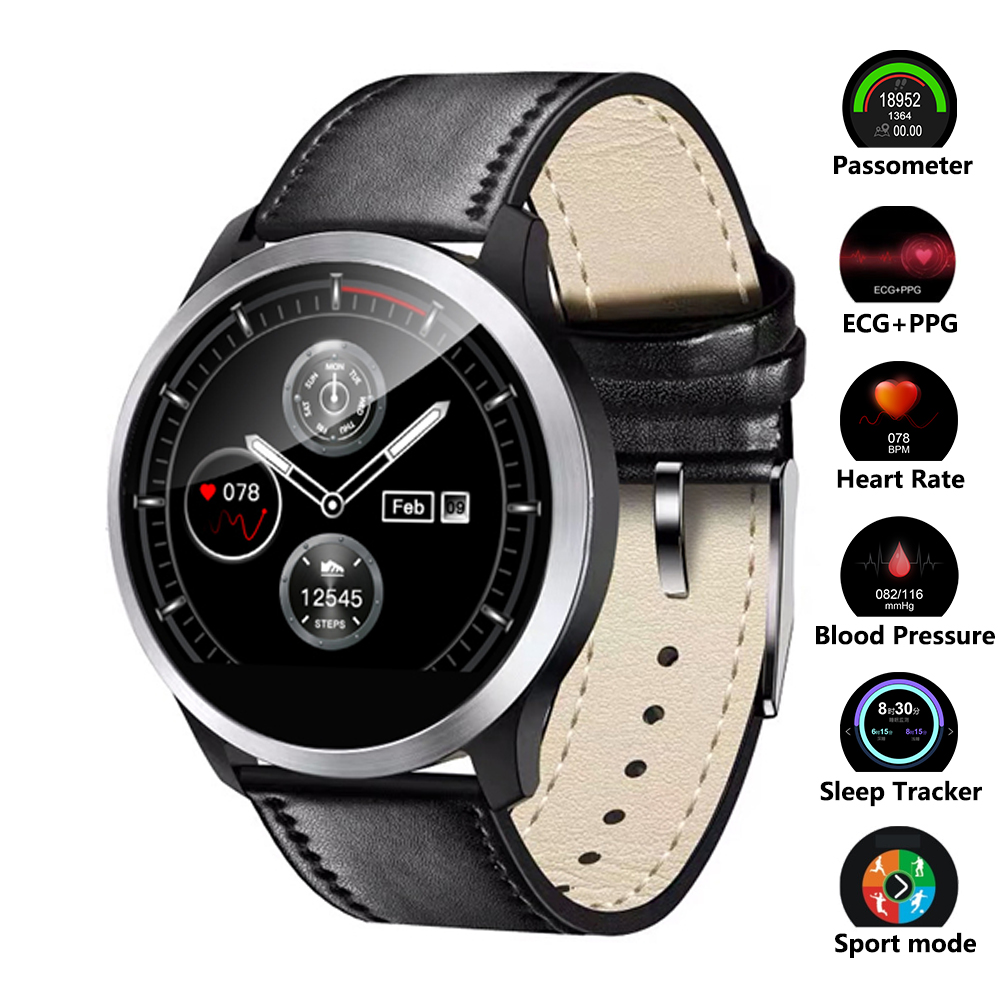 Smart Watch Heart Rate Monitor Blood Pressure Watch ECG PPG Fitness Watch Band Waterproof Multi mode Sport Smartwatch-in Smart Watches from Consumer Electronics    1