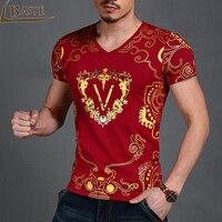 Newest Fashion Summer Brand Men 3D Print T Shirt Cotton Short Sleeve T Shirt Men Shield