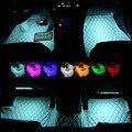 Luz de Controle De Música Luzes Do Carro Atmosfera Interior Do Carro à prova d' água Decorativos RGB Luz Com Controle Remoto