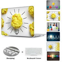 Light Bulb Pattern Transparent Crystal Plastic Hard Clear Laptop Shell Cover For Macbook Pro With