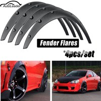 AUTOLEADER 4Pcs 3.1/80mm Universal Flexible Car Fender Flares Extra Wide Body Wheel Arches Car Wash & Maintenance Rim Care