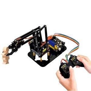 Image 4 - Keyestudio 4DOF acrylique jouets Robot mécanique bras griffe Kit pour Arduino Robot à monter soi même