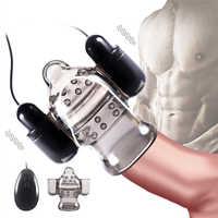 Pénis tête vibrateur gland formateur retard éjaculation adulte jouets sexuels pour hommes mâle masturbateur coq masseur double balle vibrateurs
