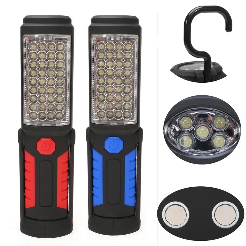 Multifunction USB Rechargeable 36+5 LED Flashlight,Outdoor Work Stand Light Magnet+HOOK+Mobile Power For Phone Lanterna Lamp