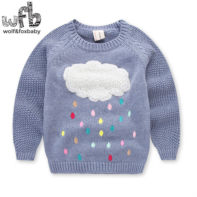 dc5bbe42f Retail 3-10years knitted sweaters Clouds boys girls baby kids children  Clothes Infant Garment spring