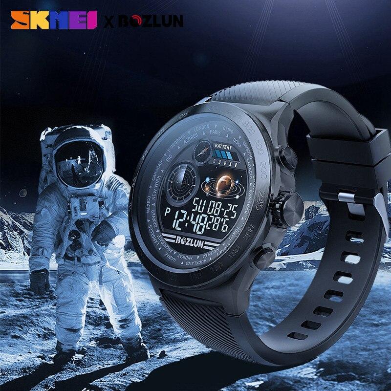 SKMEI hommes Smartwatch numérique Bluetooth Sport montres moniteur de fréquence cardiaque Fitness sommeil Tracker étanche mâle montre bracelet intelligente - 6