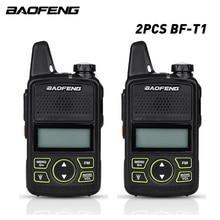 2ピース/ロットオリジナルbaofeng bf t1トランシーバーミニ子供ラジオuhfポータブル双方向ラジオuhf 400 470mhz fmトランシーバ